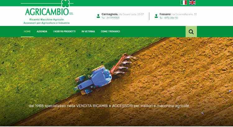 Agricambio Srl - Online il nuovo Website